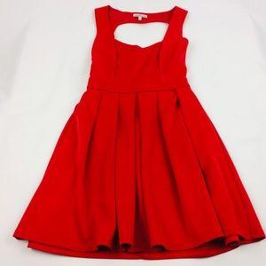 Charlotte Russe Dress Red Sleeveless Heart Cut SzM